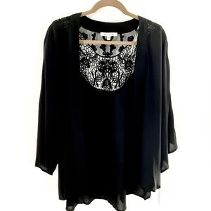 Next Black Rainn open front drape cardigan in m/l